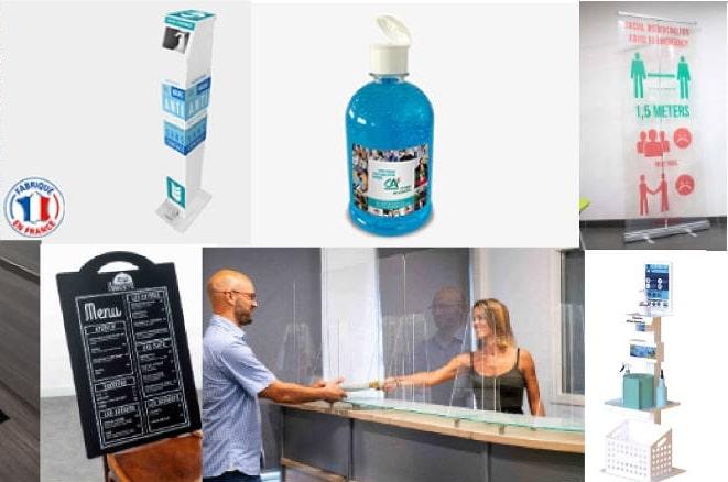 produits et signalétique anti-covid